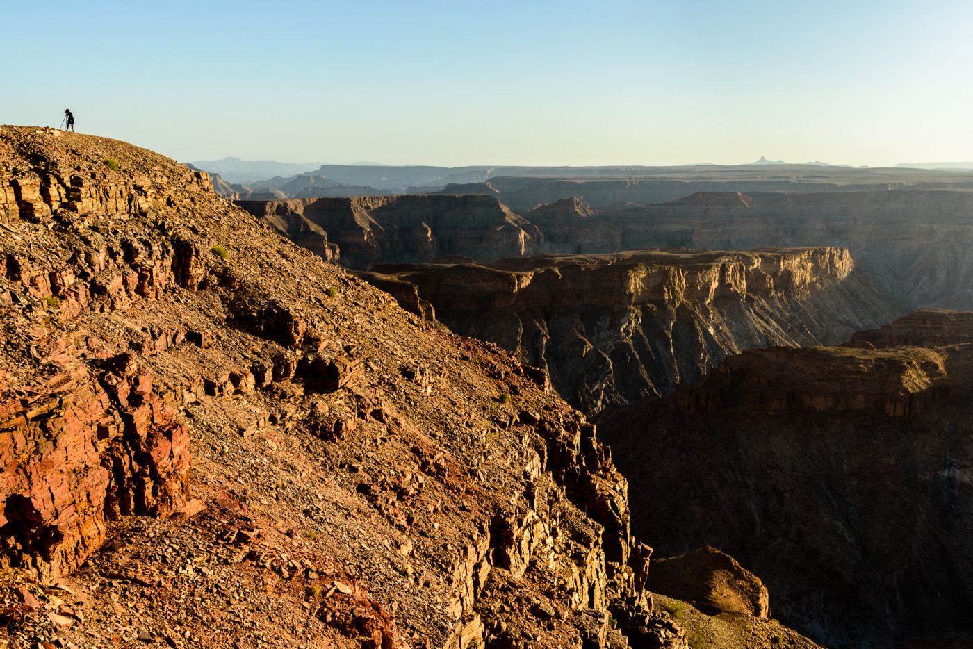 Fotograferen op de rand van Fish River Canyon