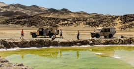 Zoutput aan de Skeleton Coast